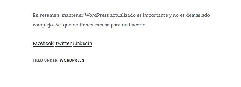 Enlaces compartir wordpress