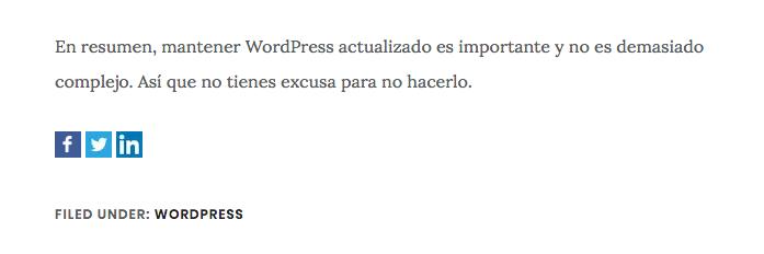 Enlaces para compartir wordpress