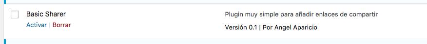Hola mundo plugin wordpress