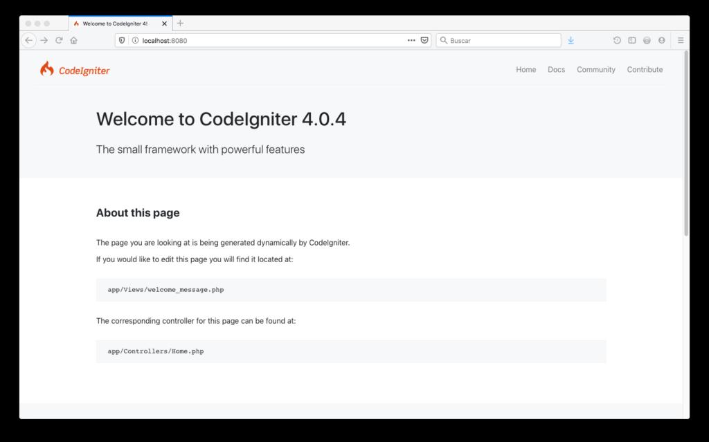 Instalaccion codeigniter